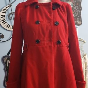 Old Navy Red Coat sz S, Thrifted
